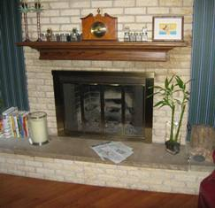 HMI Remodeling-Hoske Maintenance-Installed oak floors; designed, fabricated, finished, and installed oak mantle.